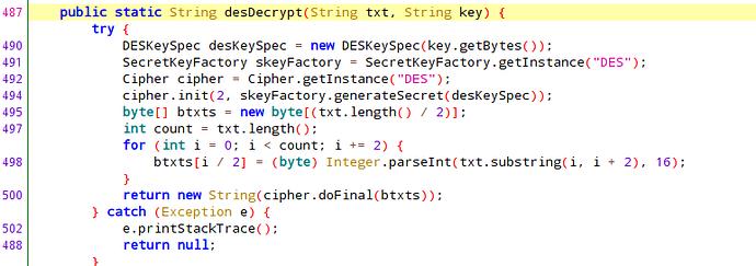 desDecrypt